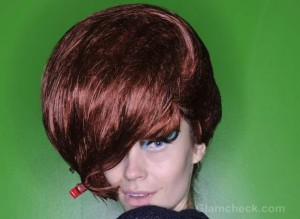 Geoffrey Mac Fall/Winter 2012: Shiny Beehive Hairstyle