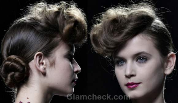 Hairstyle Vintage Pompadour with Bun how to