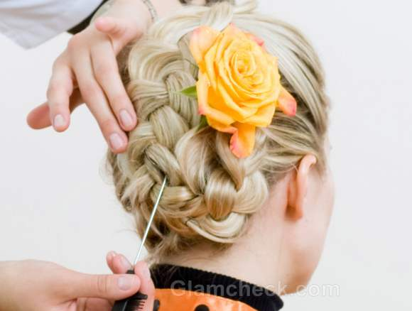 Hairstyle how to french braid bun-2