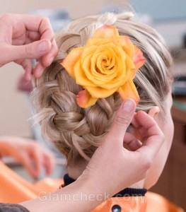 Hairstyle how to french braid bun-3