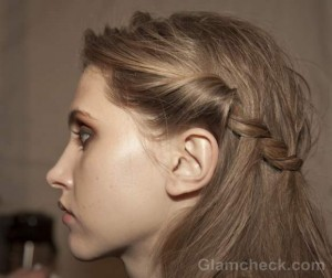 Hairstyle how to- twisted milkmaid-braids-fall-2012-Tracy Reese