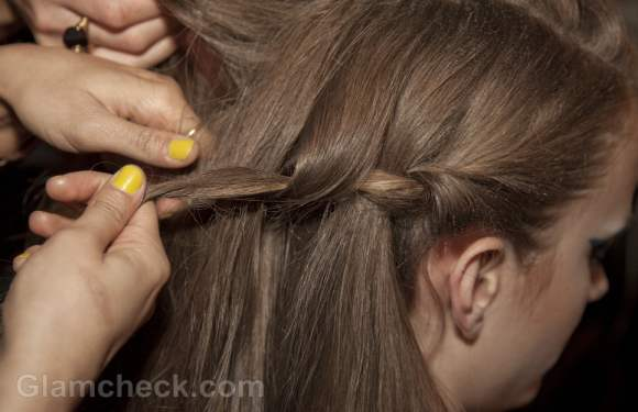 Hairstyle how-twisted milkmaid-braids