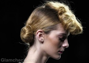 Hairstyle How To: Vintage Pompadour with Bun Fall/Winter 2012