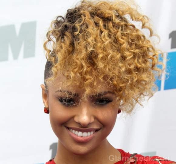Kat Graham curly hair