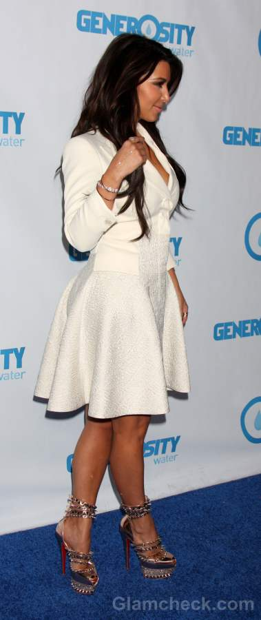 Kim Kardashian Sports Spectacular Spiky Heels