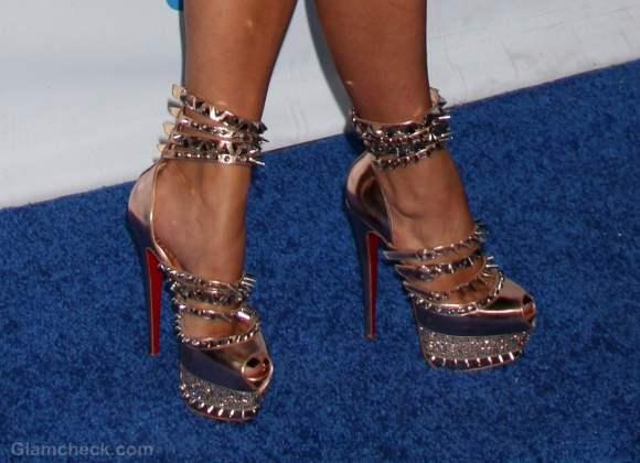 Kim Kardashian Sports Spiky Heels