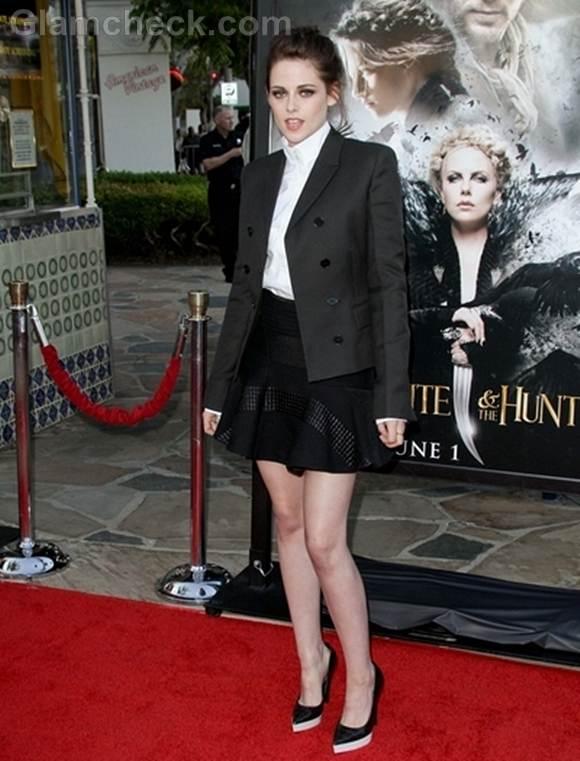 Kristen Stewart Blazer at Snow White and the Huntsman Screening
