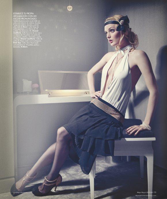 Lydia Hearst by Benjamin Kanarek for Harpers Bazaar May 2012-9