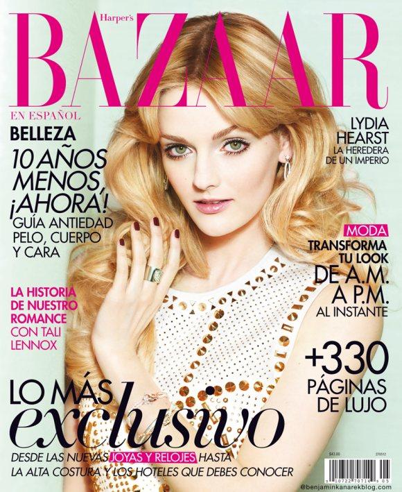 Lydia Hearst by Benjamin Kanarek for Harpers Bazaar May 2012