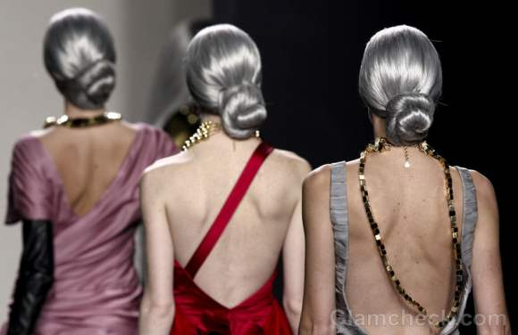 Maria Barros fall-winter 2012 hairstyle chic salt and pepper
