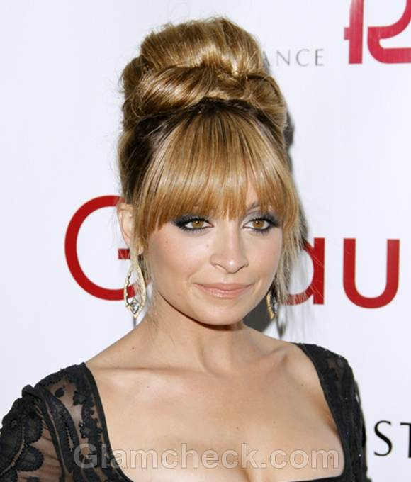 Nicole Richie Sports 60s Beehive Hairstyle At Fifi Awards