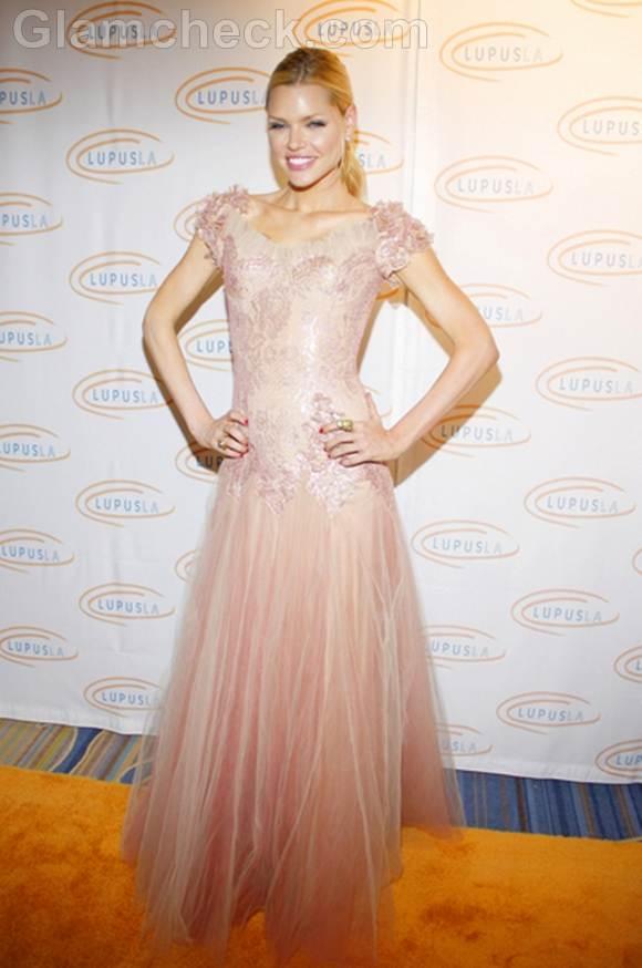 Sophie Monk  Pastel gown at Orange Ball