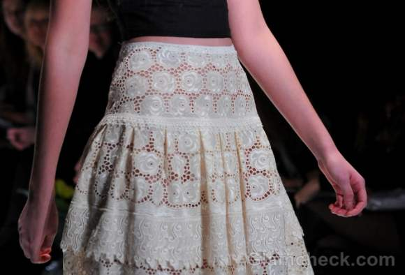 Style pick of the day white lace skirt