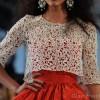 Style pick white lace cropped top-Oscar De La Renta Spring-Summer 2012