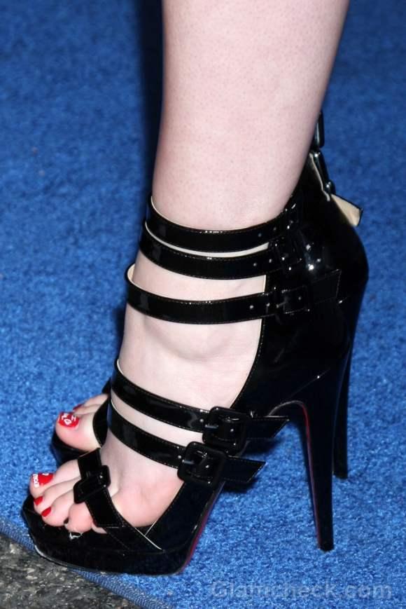 black strappy heels Madeline Carroll