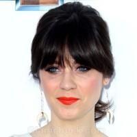 celebrity bangs hairstyles 2012 billboards awards zoe deschaneal