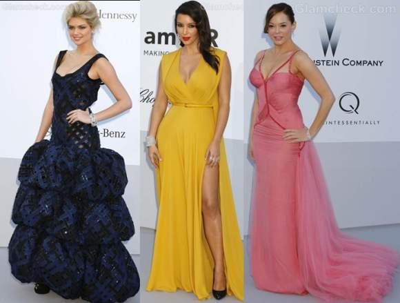 celebrity gowns  2012 amfARs cinema against aids