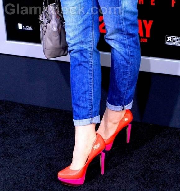 color block heels Katie Featherston