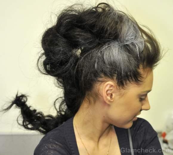 futuristic messy braid hairdo Dima neu fall winter 2012
