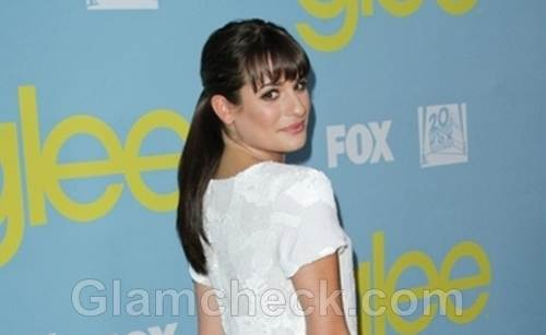 hairstyle lea michele ponytail