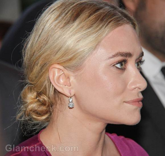 Ashley Olsen messy chignon 2012 CFDA Awards