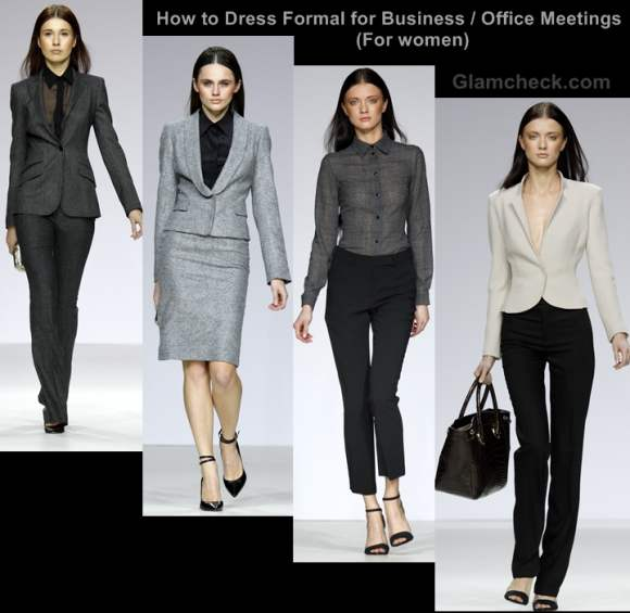 How dress formal for business office meetings women