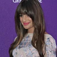 Lea Michele blunt bangs hairstyle