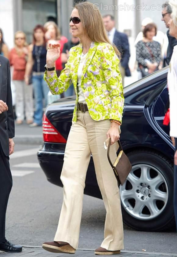 Princess Elena fluorescent floral blazer