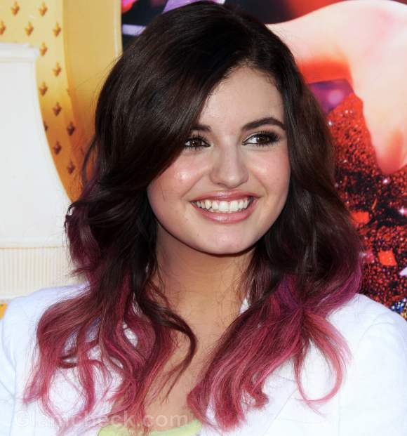 Rebecca black two-toned hair color