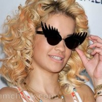 Rita Ora goggles with wings Summertime Ball 2012