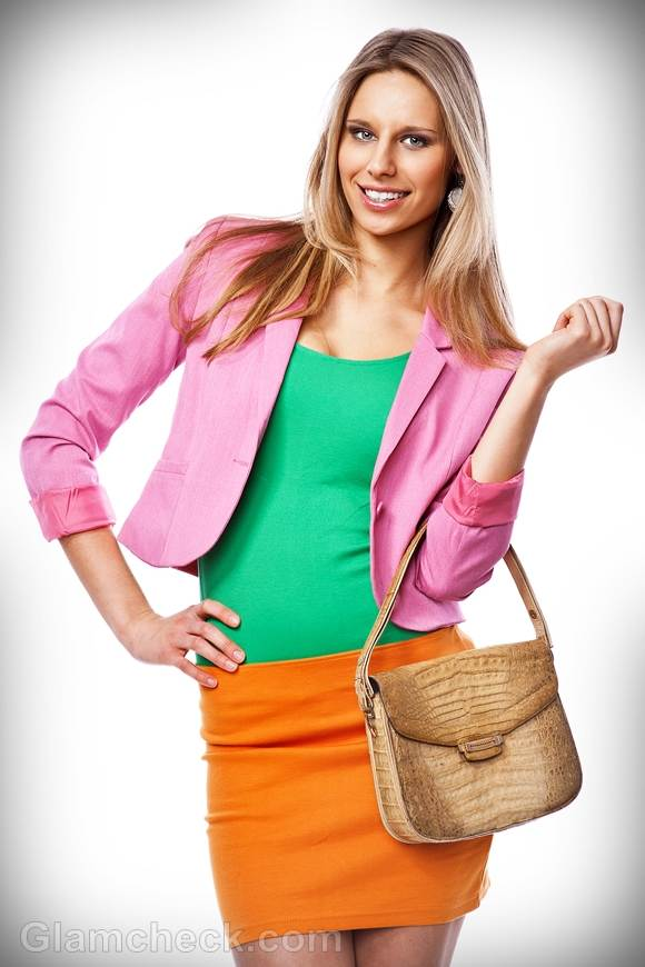 Rock the look color blocking