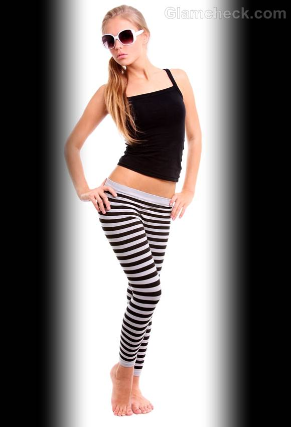 Rock the look wearing black and white stripes