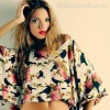 Rock the look wearing cropped kaftan top mini skirt