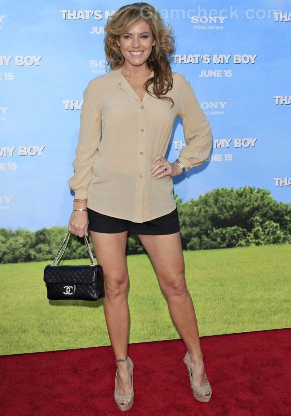 Sandra Taylor black shorts nude shirt