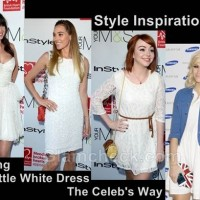 Style Inspiration wearing the little white dress the celeb way