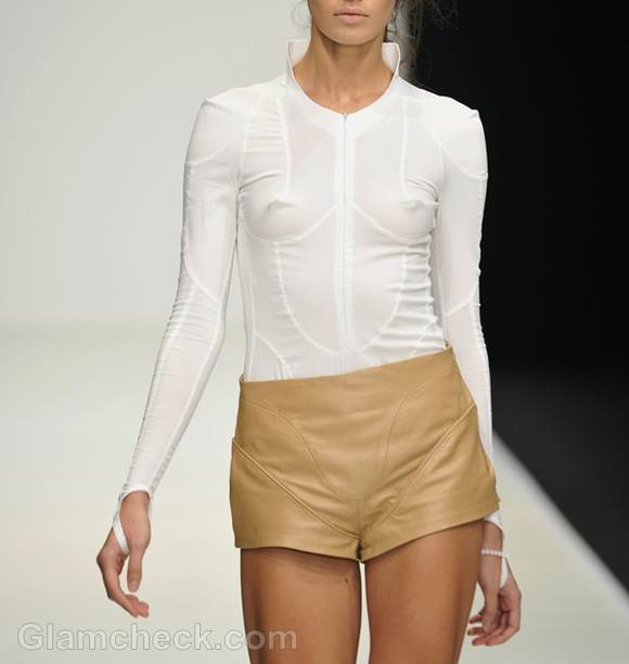 Style Picture white top and beige shorts