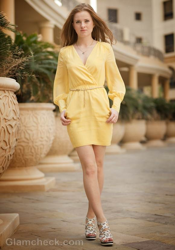 Style Pictures canary yellow dress