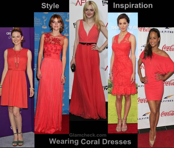 - Style Inspiration: Wearing Coral Dresses & Gowns