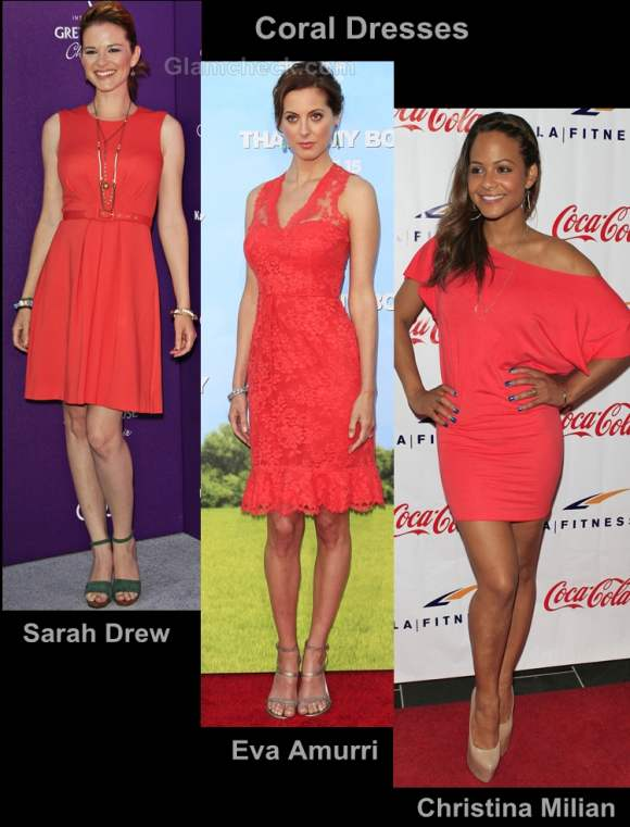 Style inspiration wearing coral dresses