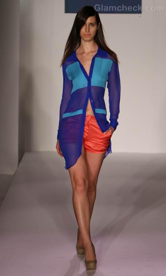 Style pick color blocked chiffon long shirt-Carlos Luna Spring 2012