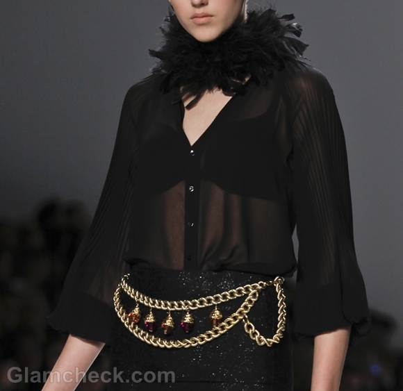 Style pick link waist chain