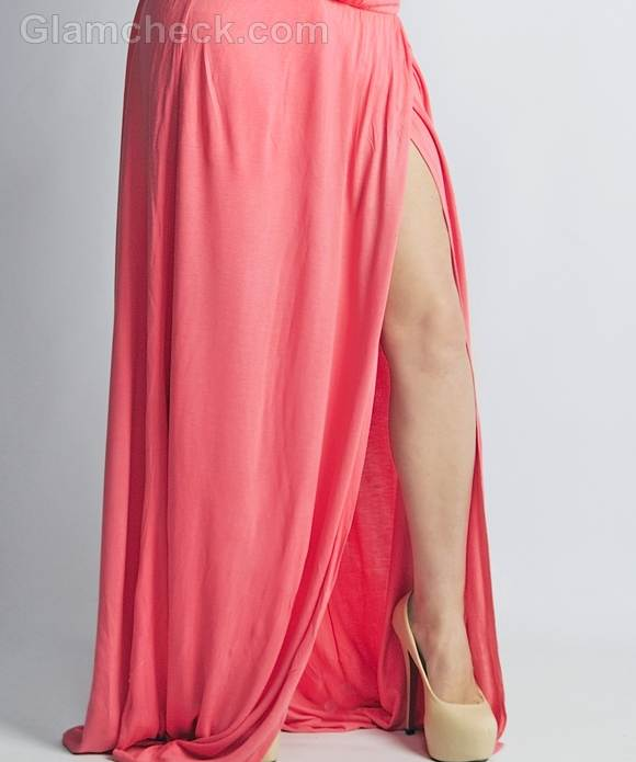 Style picture floor length gown pink