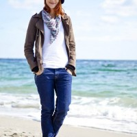 Style picture how wear white top blue jeans androgynous