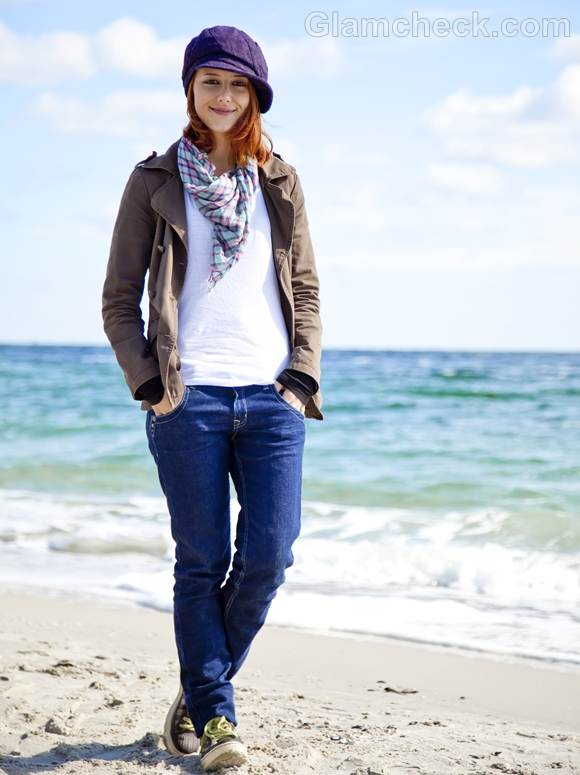 Style Picture Wearing White Top with Blue Jeans the Androgynous way