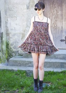 Style Picture: Wearing Paisley Print Babydoll Dress