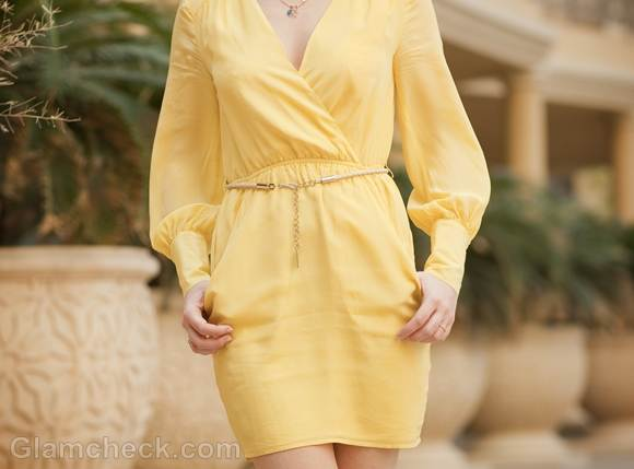 Style pictures canary yellow dress-3