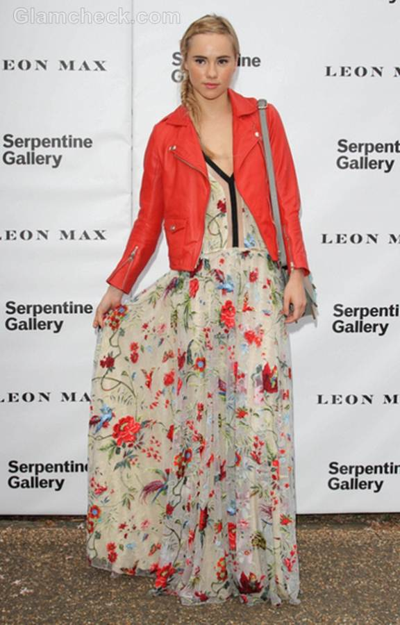 Suki Waterhouse floral maxi dress for Summer Party