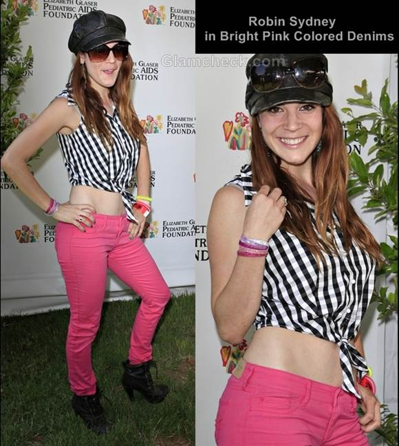bright pink colored denims style robin sydney