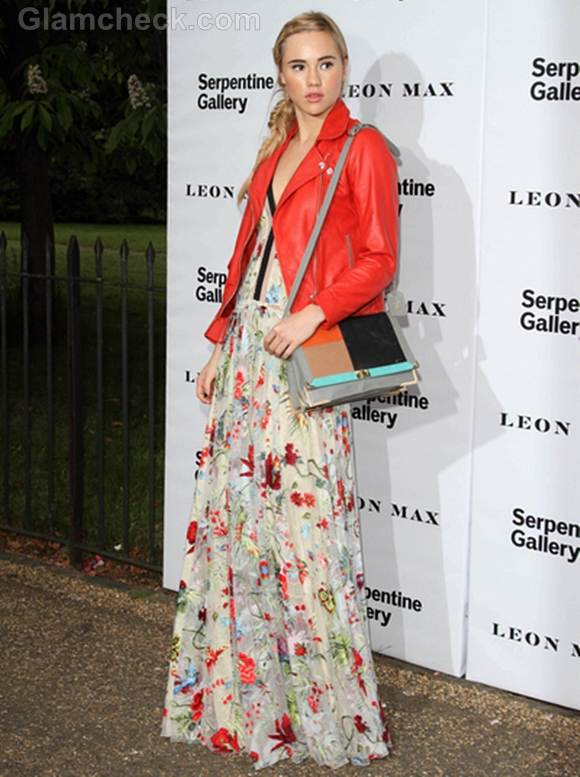 floral maxi dress for Summer Party Suki Waterhouse