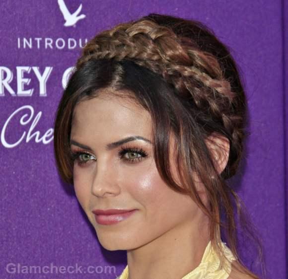 milkmaid braid hairstyle Jenna Dewan